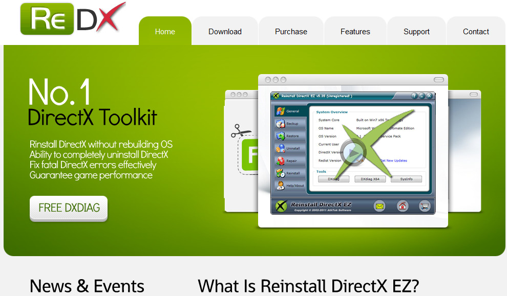 independent site of Reinstall DIrectX EZ