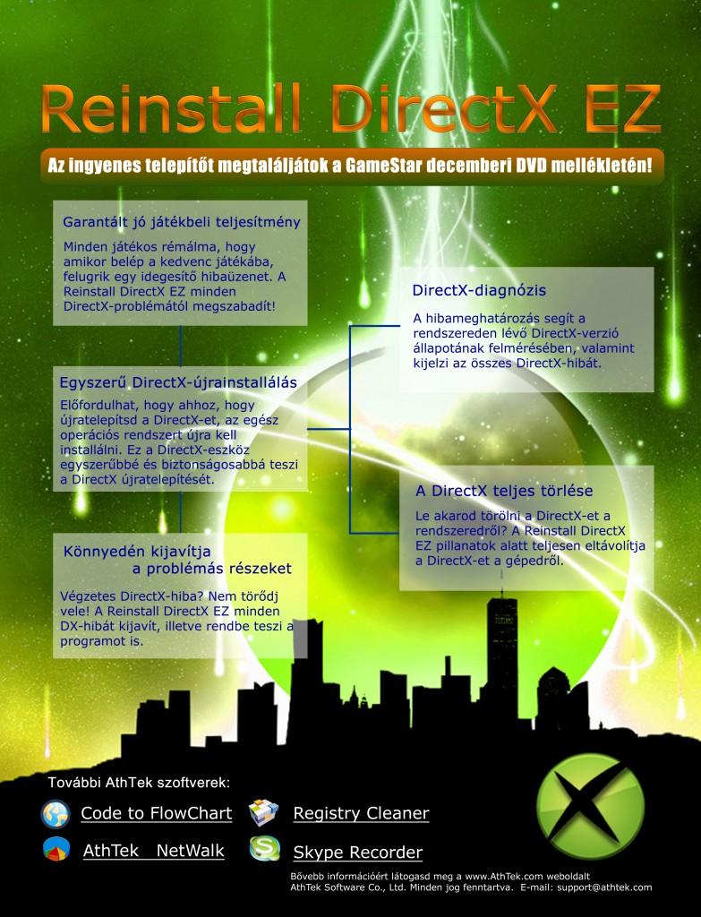 Reinstall DirectX EZ on GameStar