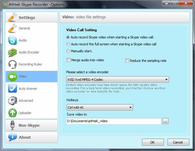 video encoder for Skype Recorder