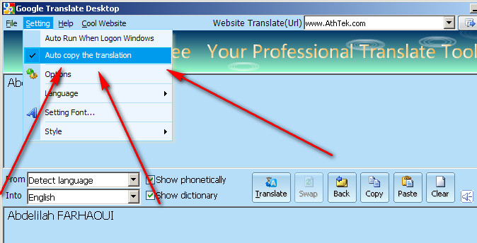 Free Desktop Translator