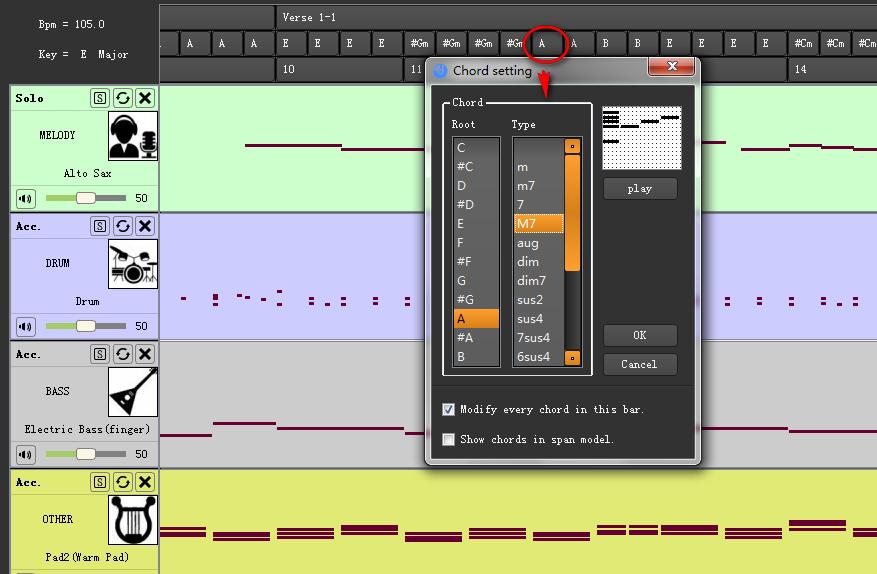 Edit Chord Directly