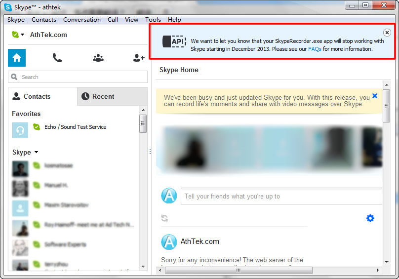 Skype Stops Desktop API