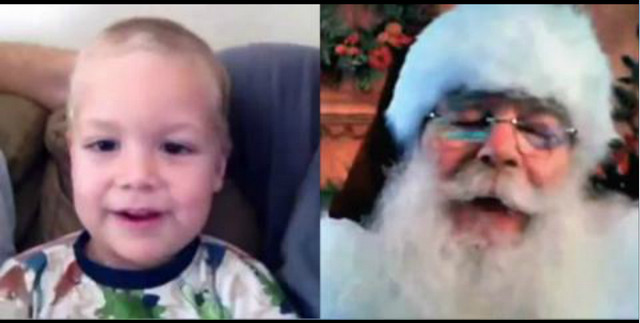 Christmas Skype Video Call