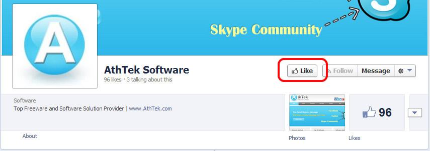 facebook like AthTek