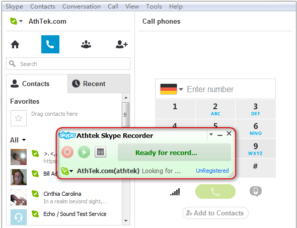 Skype Recorder Lite