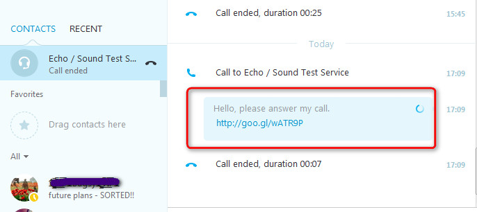 auto-notification in Skype recorder