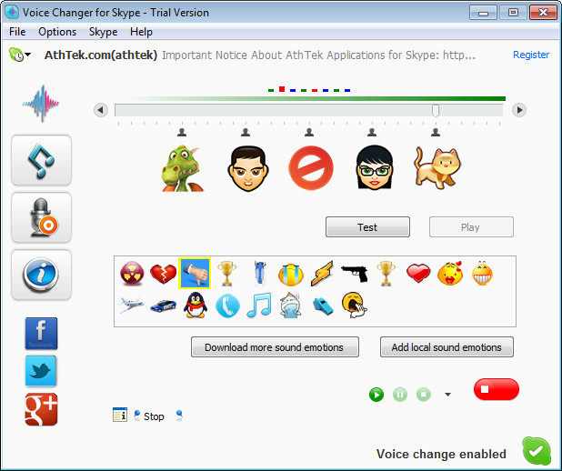 Voice Changer for Skype 3.0