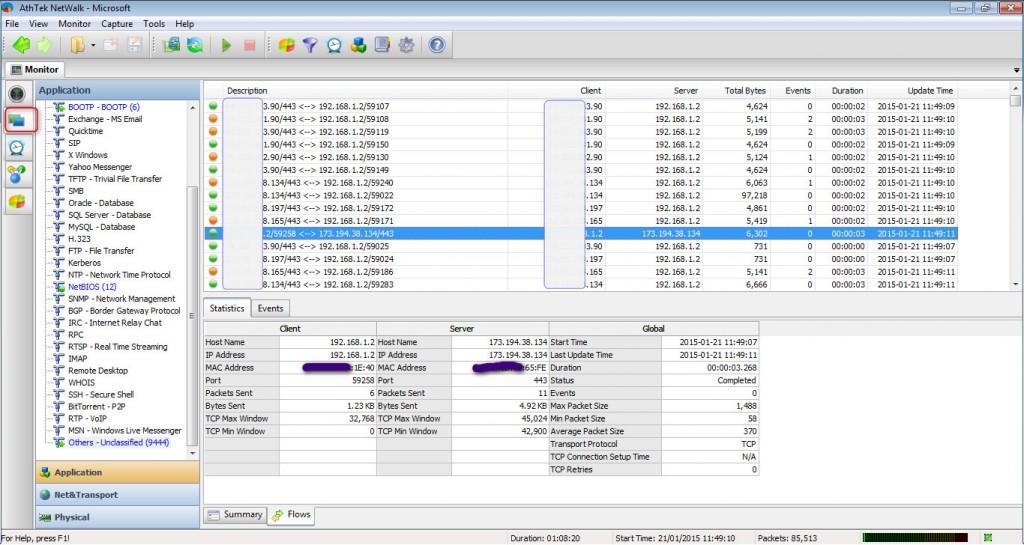 realtime network analysis