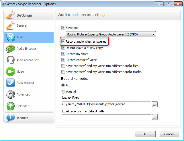 Skype Recorder Start