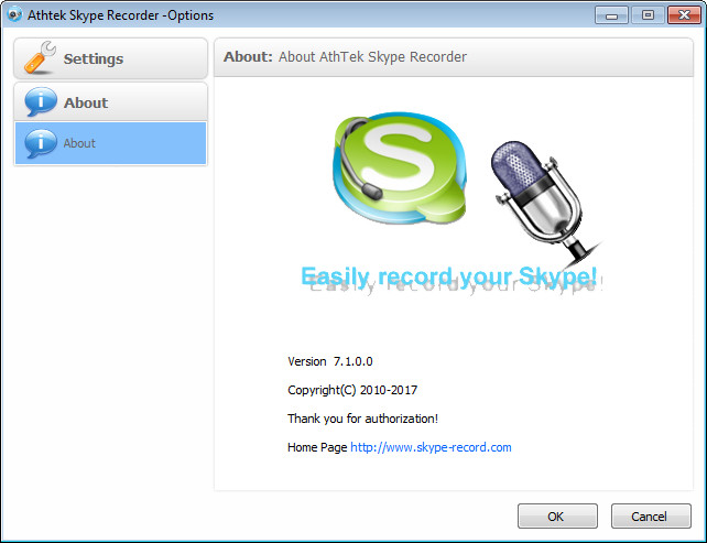 About Skype Recorder V7.1