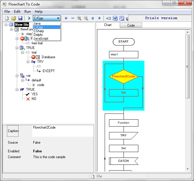 Click to view AthTek Flowchart to Code 1.0 screenshot
