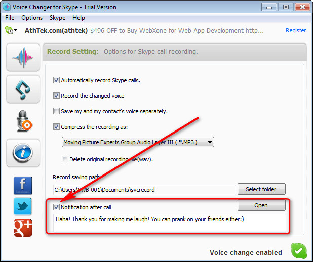 how to get voice changer on skype