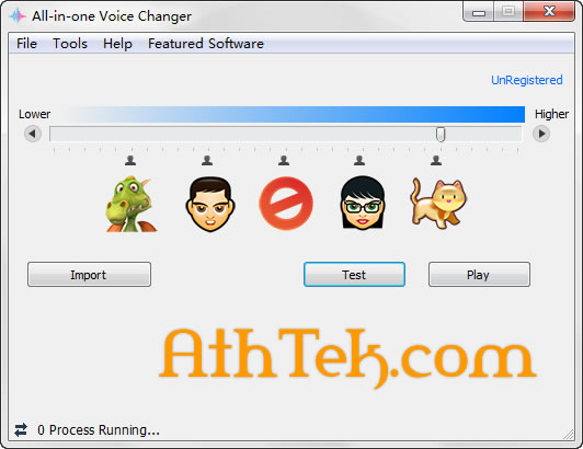 Click to view All-in-one Voice Changer 1.5 screenshot